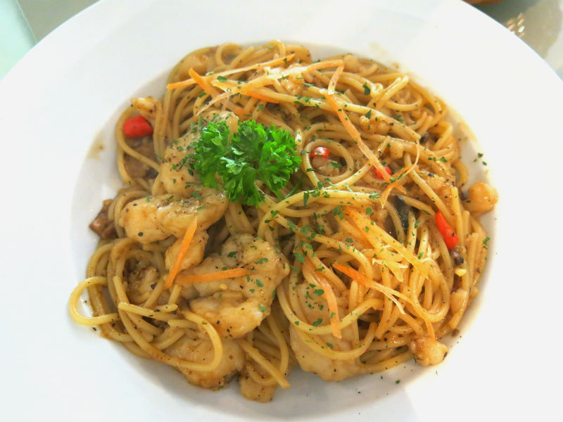 Aglio Olio Black Pepper Pasta at China Square Central (Singapore)