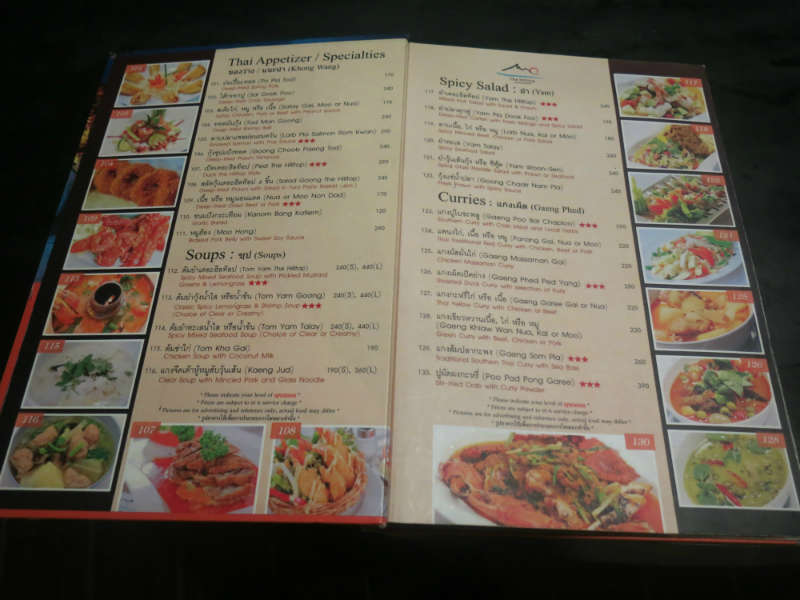 Krabi the Hill Top Menu 1 small