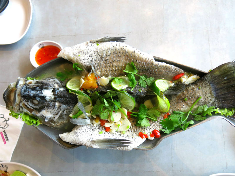 Porn's Steamed Whole Fish with Thai Spices and Lime