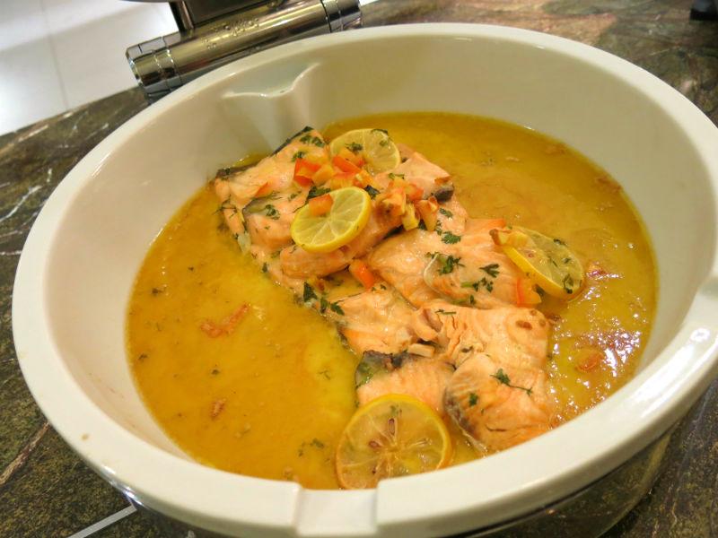 Seasonal Tastes Salmon Beurre Blanc