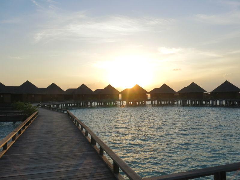 Baros Maldives Overwater Villa Sunset