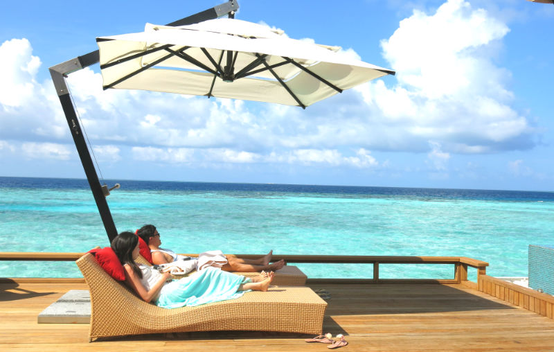 Baros Maldives Pool Umbrella