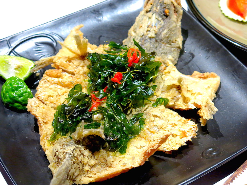Kaffir & Lime Singapore - Deep fried Whole Sea Bass
