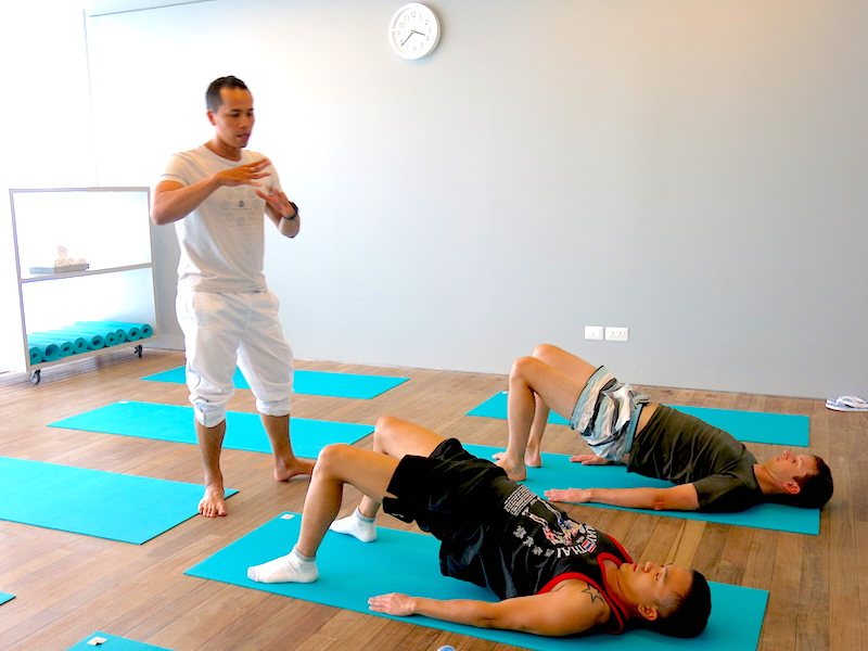 Pilates Instructor giving guidance