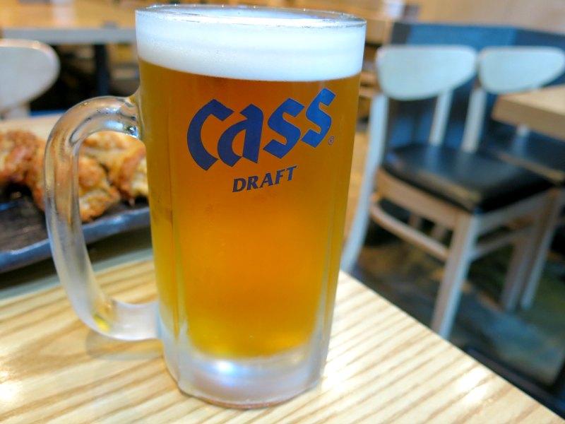 Cass Beer at Noo Na Hol Dak Myeongdong