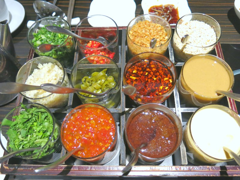 Imperial Treasure Steamboat Restaurant Condiments