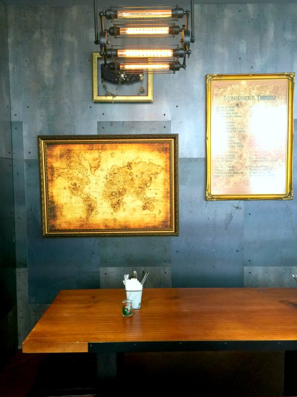 Monniker Rustic World Map and Poetry