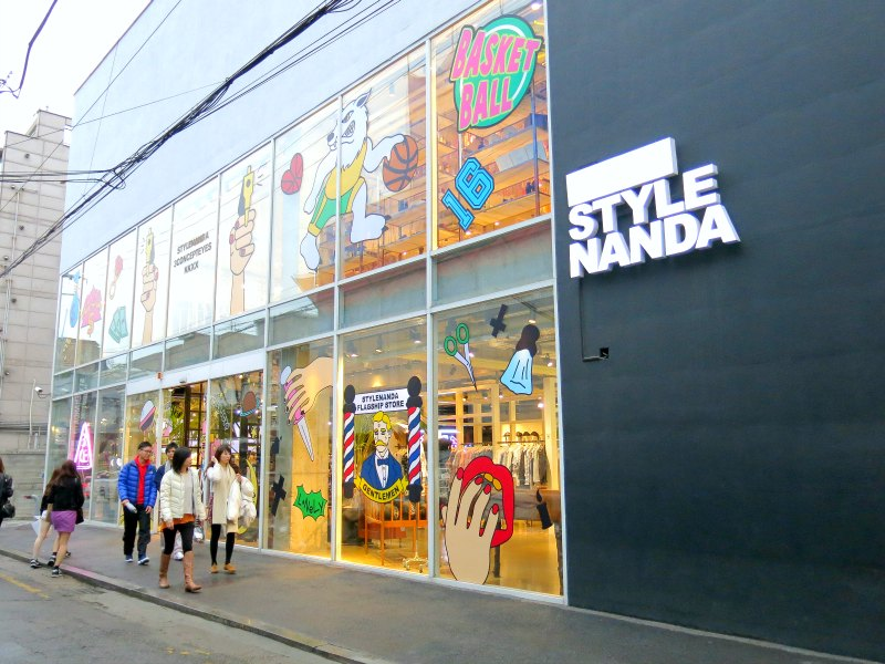 Stylenanda hongdae flagship store