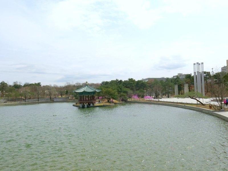 Beautiful Lake with a pavilion
