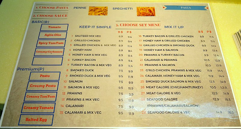 Savis Food menu