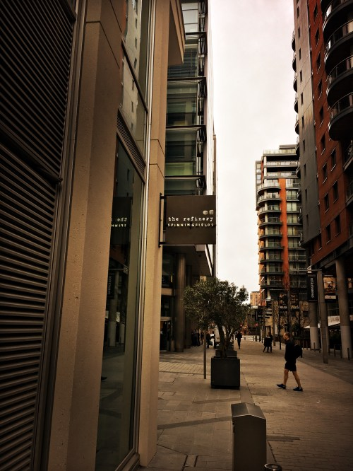 Outside the Refiner Spinningfields Manchester