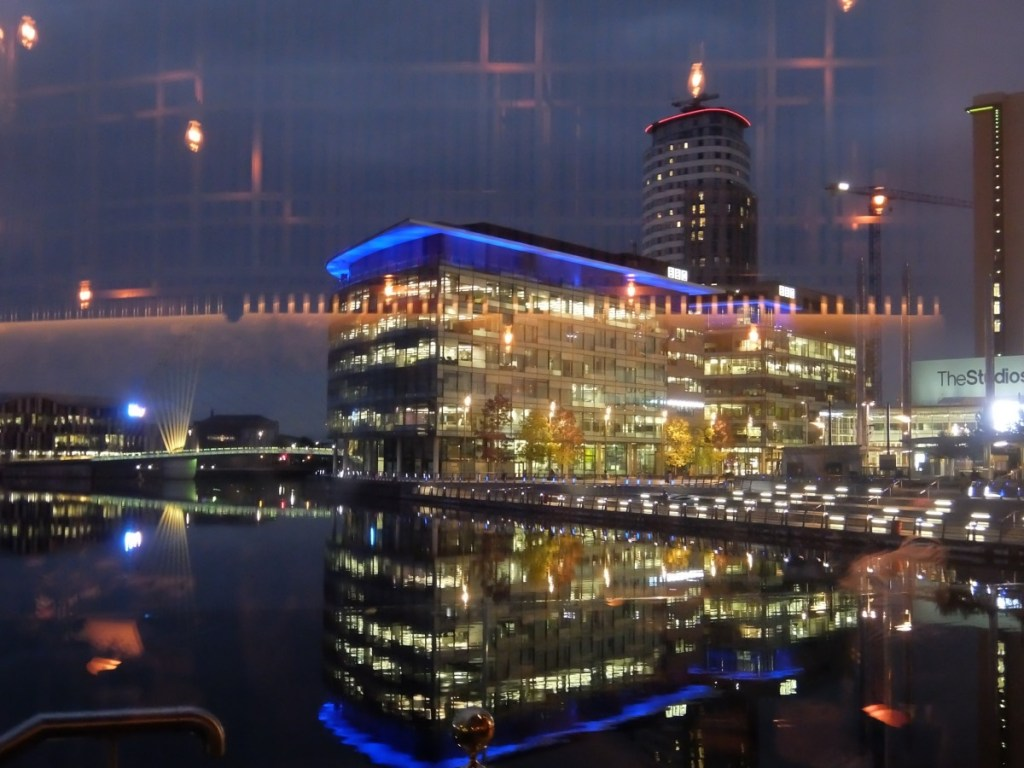 The view out the venue - Salford Quays
