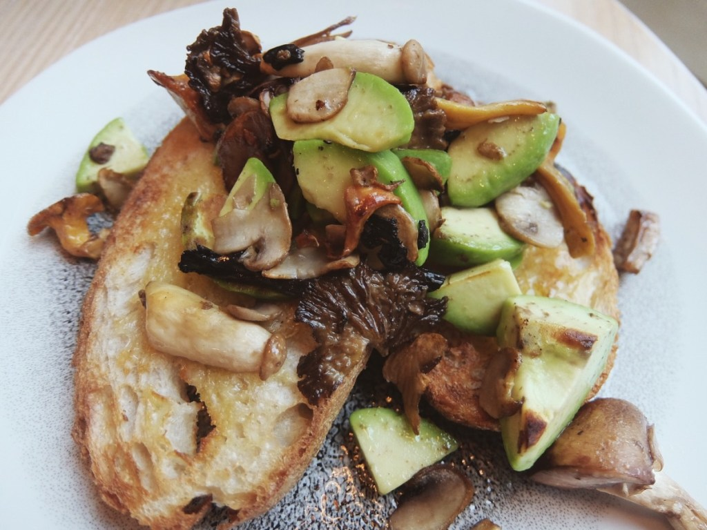 Mushrooms and Avocado on Toast