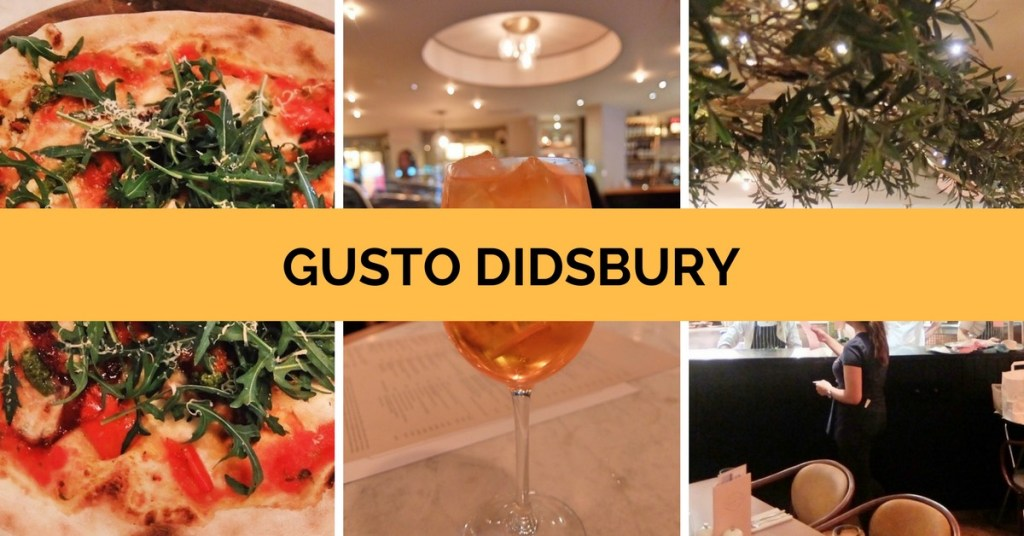 Gusto Didsbury Review
