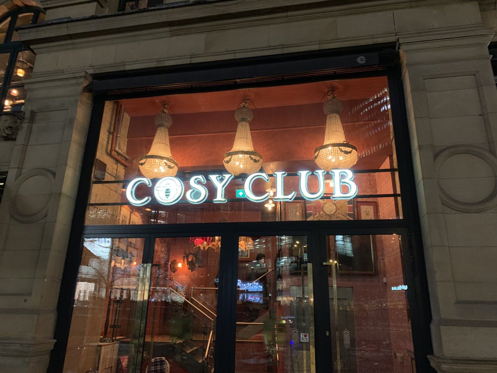 Outside the Cosy Club