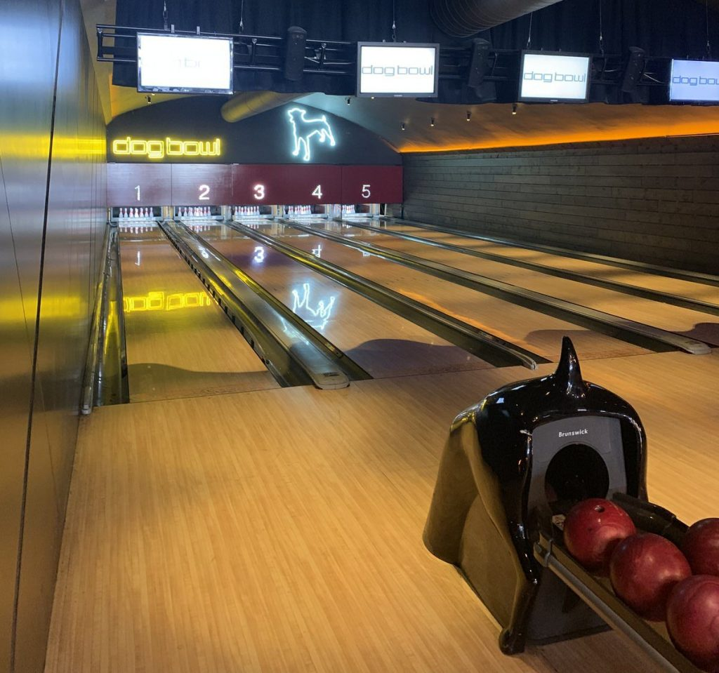 The bowling Alley at Dog Bowl