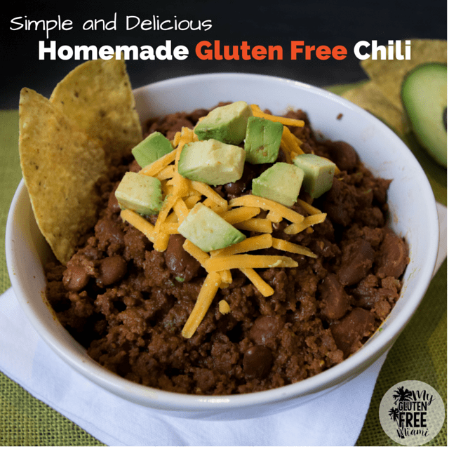 Homemade Gluten Free Chili