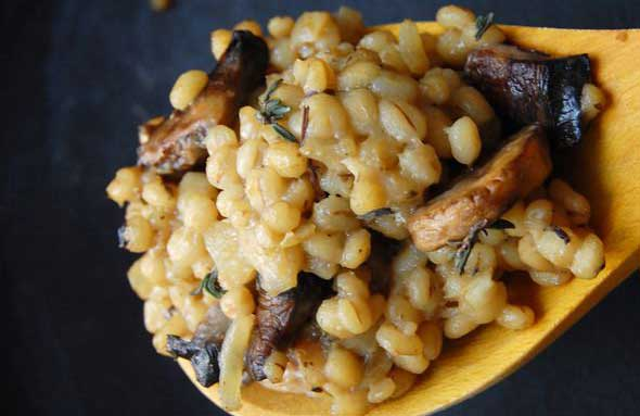 Nutty Barley Risotto