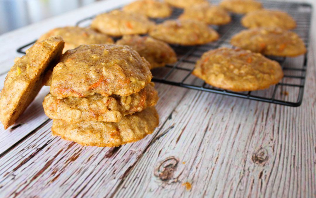 Carrot, Apple & Honey Cookies