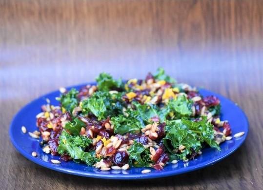 Instant Pot Barley and Cranberry Salad