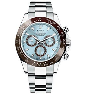 Mens Watches Rolex Cosmograph Daytona Ice Blue Dial Platinum Mens Watch 116506