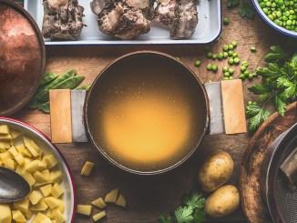Warm And Sweet Bone Broth Stew