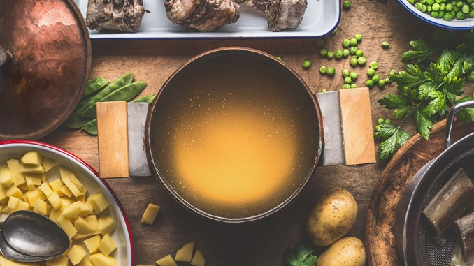 Warm And Sweet Bone Broth Stew