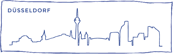 skyline zeichnung duesseldorf