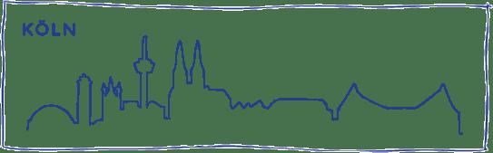 skyline zeichnung koeln