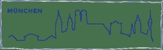 skyline zeichnung muenchen