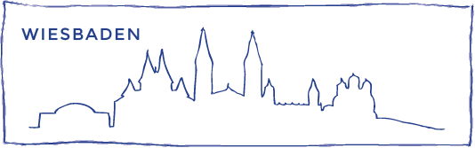skyline zeichnung wiesbaden