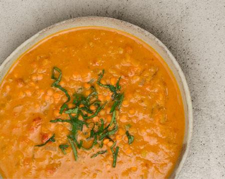 Indische Linsen Suppe