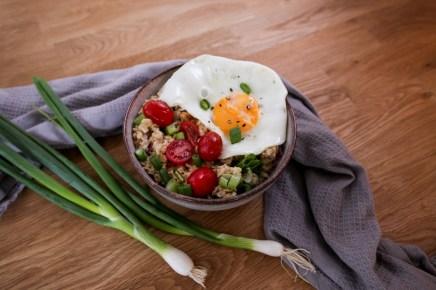 Herzhaftes Porridge