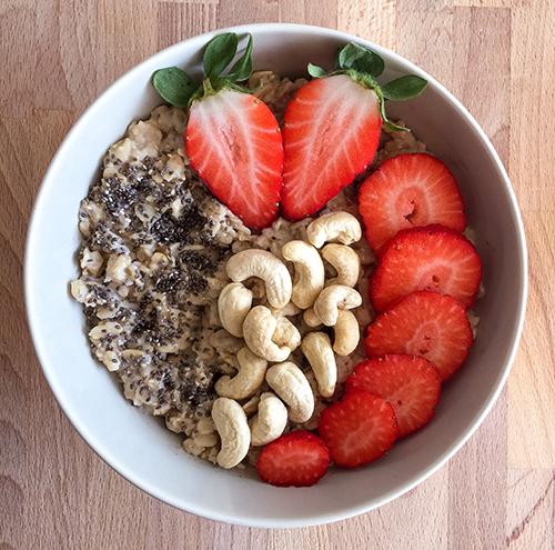 Erdbeer Porridge