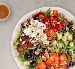 Gurke: griechischer Salat