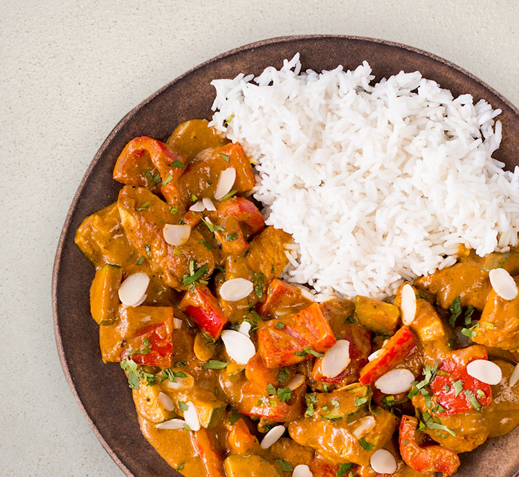 Madras Curry with Rice