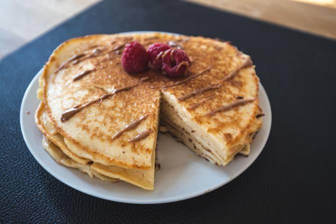 Gesundes Frühstück - Pancakes