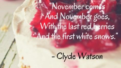 November seasonal food