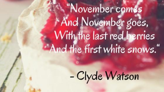 Seasonal Food in November