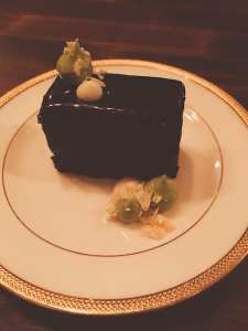 Chocolate Ganache Cake with Wasabi