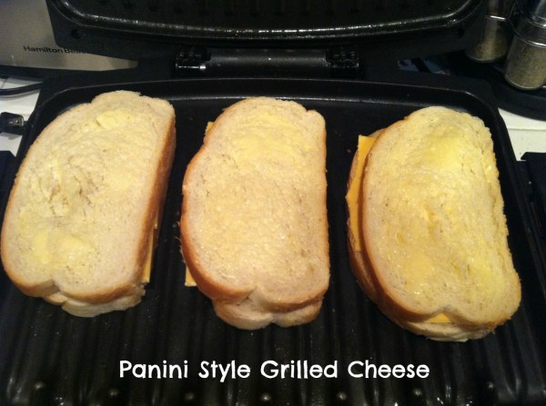 How to make a panini style grilled cheese