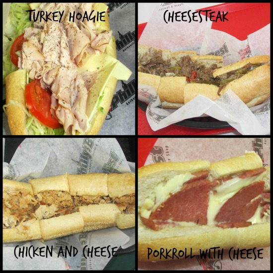 Philly's Best sandwiches collage