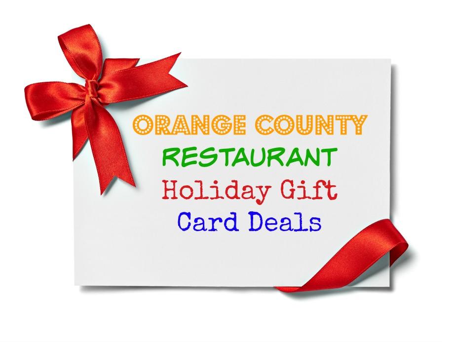 Oc Restaurant Holiday Gift Card Deals Eat Drink Oc