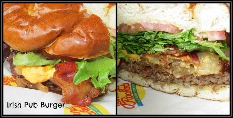 Johnny Rockets Irish Pub Burger