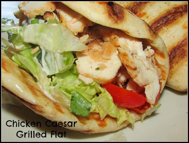 Flatbread sandwiches Chicken Caesar Corner Bakery