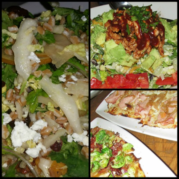 California Pizza Kitchen salads and starters
