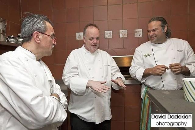 Chefs Walter Potenza, Tony Mantuano and Jose Duarte