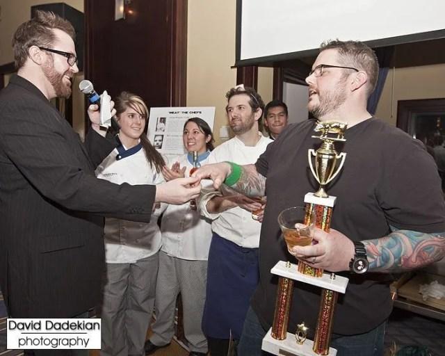 Boston Prince of Porc, winner Chef Matt Jennings from Farmstead with Brady Lowe
