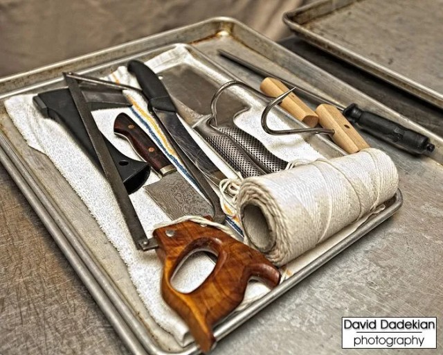 Chef Ryan Farr's butchery tools