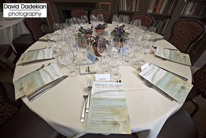 Rhode Island Farm, Vine and Sea to Table menus